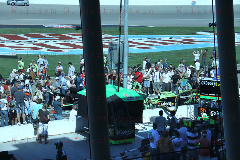 Large Crowds around Danica Patrick's Pit Stall. LVMS 10-16-2011