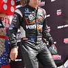 Driver Will Powers after being introduced before the Las Vegas Indy 300 Oct. 16, 2011