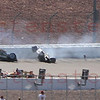 Las Vegas Indy 300 crash in turn 2 that took the life of Dan Weldon (77) Oct. 16, 2011