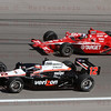 Driver's Will Power & Dario Franchitti battle for the Championship. Only 12 laps into the race Will Power's was involved in the huge crash. The race was ended and Dario Franchitti won the 2011 Championship and the Las Vegas Indy 300. Oct 16, 2011