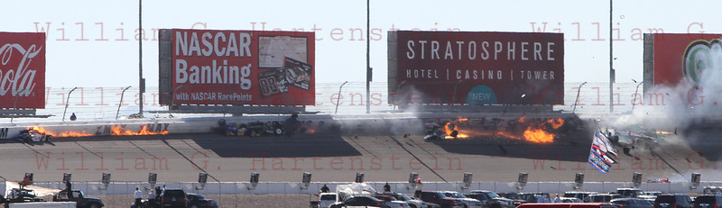 IRL LVMS crash turn 2 10-16-2011Lap 13