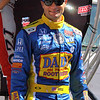 Driver Townsend Bell after being introduced before the Las Vegas Indy 300 Oct. 16, 2011