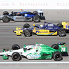 Driver's Davey Hamilton #11, Ana Beatriz #24 & Simona De Silvestro #78 do a 5 lap tribute in honor of Dan Wheldon.