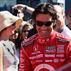 Dario Franchitti perpares to get in his Target race car. LVMS 10-16-2011