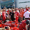 Owner Chip Ganassi and Team Target with Dario Franchitti on the grid before the start of the Las Vegas Indy 300. Oct. 16, 2011