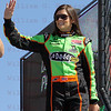 Danica Patrick is introduced before the IZOD IndyCar World Championship race at the Las Vegas Motor Speedway in Las Vegas, Nevada October 16, 2011.