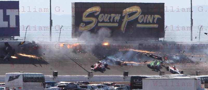 IRL LVMS crash turn 2 10-16-2011 Lap 12
