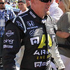 Driver Paul Tracy after being introduced at the Las Vegas Indy 300 Oct. 16, 2011