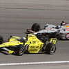 Ed Carpenter #67 leads Marco Andretti #26 into Turn 4 at the Las Vegas Indy 300. Oct. 16, 2011