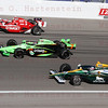 Drivers Scott Dixon #9, Danco Patrick #7 & Takuma Sato #5 do a 5 lap tribute in honor of Dan Wheldon.