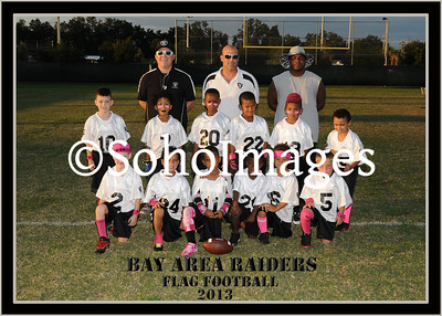 Raiders Football Flag Portraits 2013