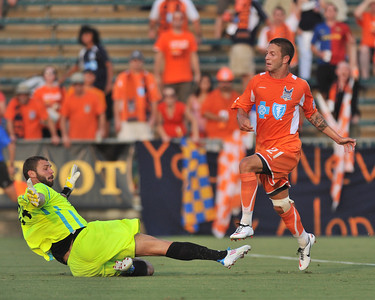 The Carolina Railhawks and Ft.Lauderdale Strikers played to a 3-3-tie on July 7, 2012 in Cary's WakeMed Soccer Park.
