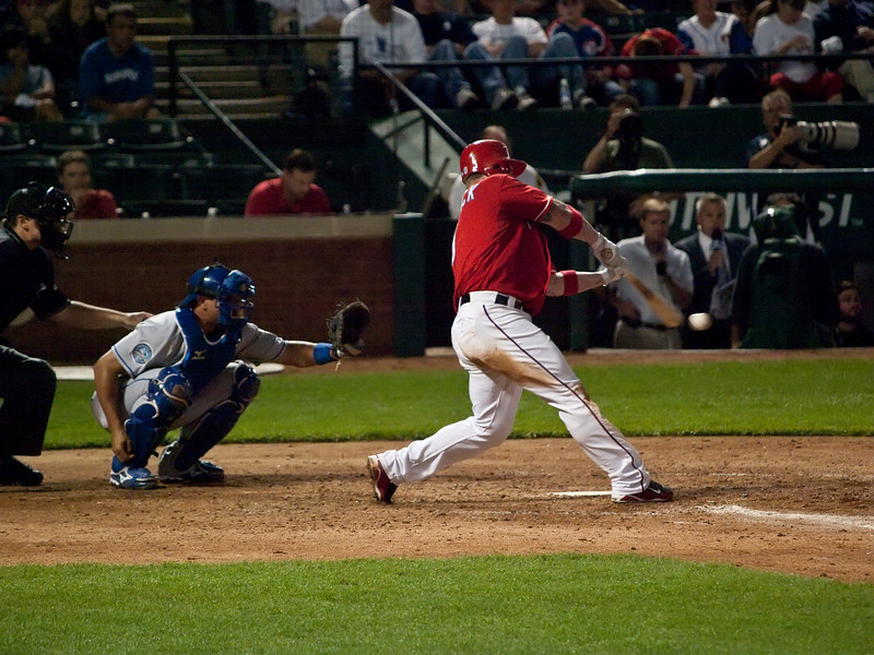 Hank Blaylock at the plate.