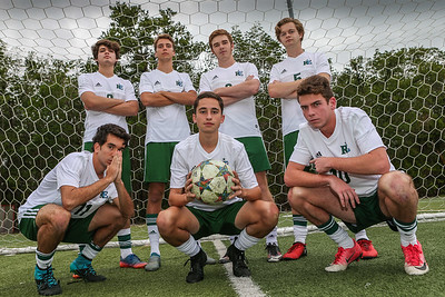 Senior Photo Day.  RE Boys' Soccer