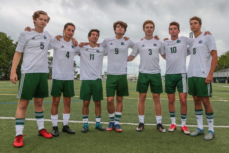 Senior Photo Day.  RE Boys' Soccer