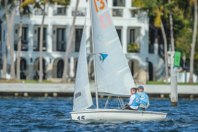 Ransom Everglades Varsity Sailing South Points #4 Regatta. January 2019