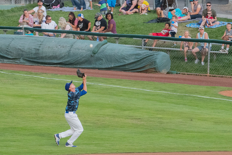 Missoula Osprey take on the Ogden Raptors at Lindquist Field to a near record crowd attendance at Lindquist Field in Ogden on Friday July 14, 2017.