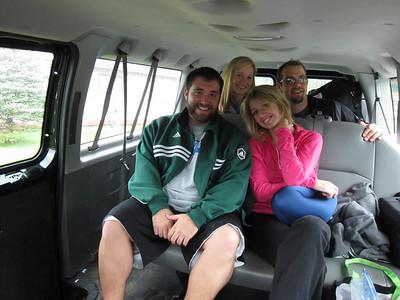 Dom, Sarah, Kate, Rory - where's Iwan?