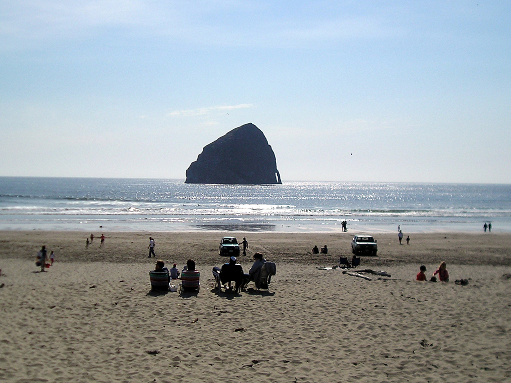 Haystack Rock, at Pacific City