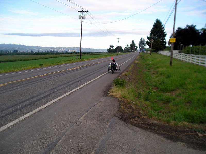Leg 1 - The fields just outside of Beaverton, as we are on our way.