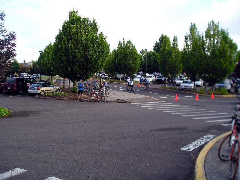 Sleepy start in Beaverton, at Conestoga School.  Start time:  7am.