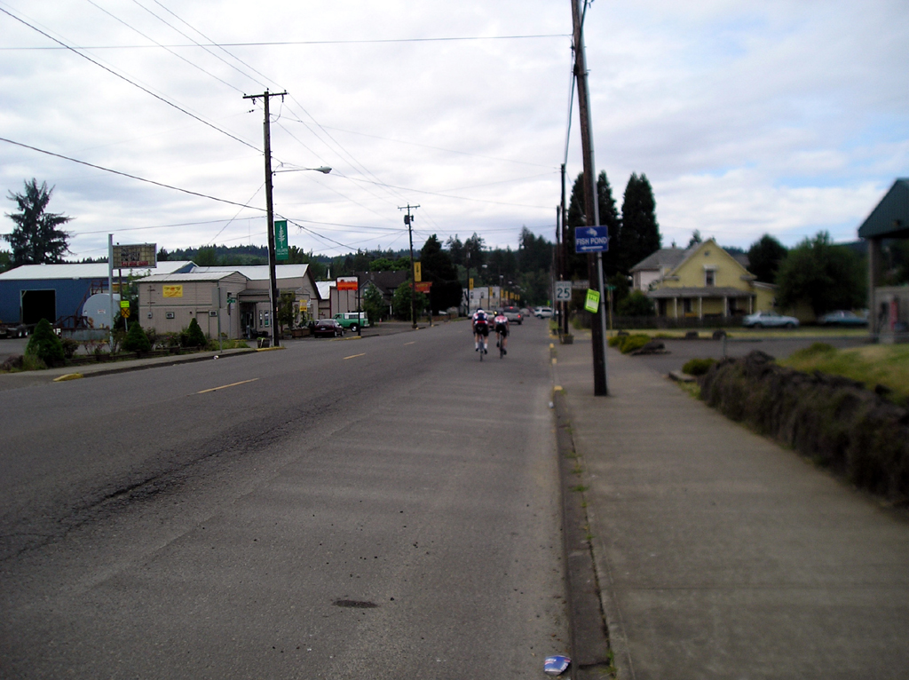Passing through the town of Willamina, on the way to Grand Ronde.