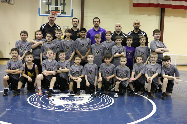 Feb 13, 2017 Jr Falcon Rec Wrestling Team and individual mug shots
