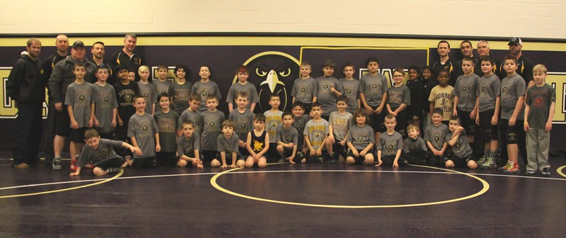 Rec Wrestling Team and individual mug shots, Feb 2015