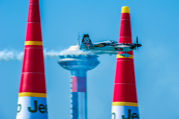 Michael Goulain of the US at the Red Bull Air Race season opener in Abu Dhabi, UAE on Saturday 14th February, 2015. Photo by: Stephen Hindley©