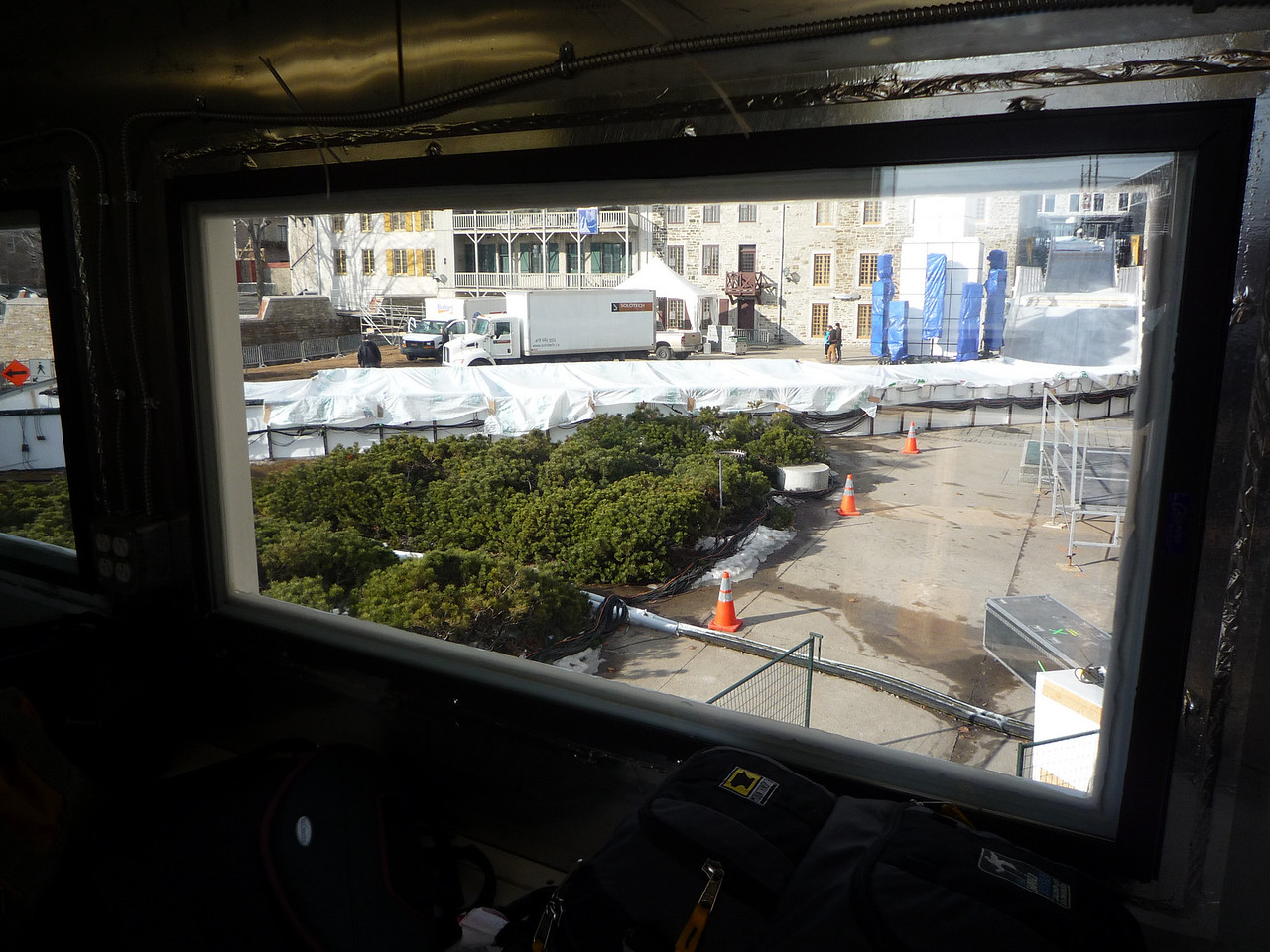 The current view from the timing 'container', or Tin Can!