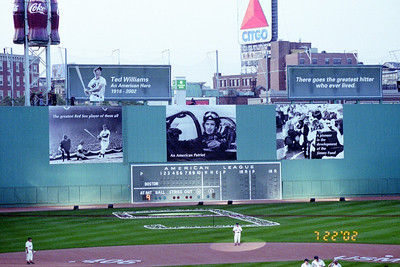 Ted Williams Farewell - July 2002