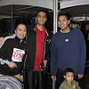 Nipsy (5k runner), Charlie, and Carlo (5k runner) with Sean and Ethan