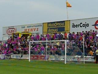 Las gradas para los aficionados del Palencia
