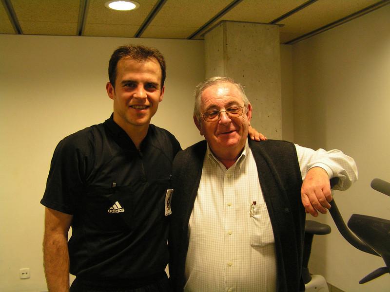 Gustavo con Ladis en el vestuario de Las Palmas