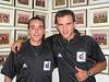 Gustavo y Carballas en el vestuario del Alicante - Peñasport Temporada 2004-2005