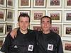 Con Carballas en el vestuario del Rico Perez,  Alicante - Peñasport Temporada 2004-2005