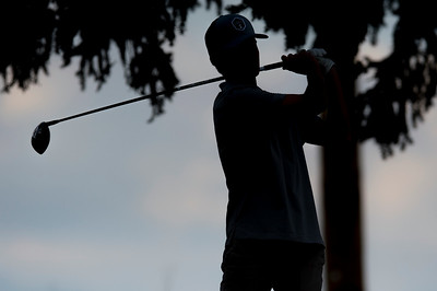 Drew Smith of Viewmont High School competes during the Region 5 boys golf tournament on Monday September 25, 2017, at Hubbard Golf Course on Hill Air Force Base in Layton.