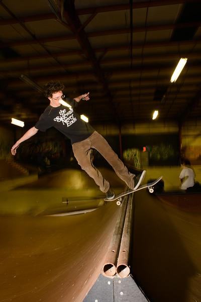 Jeremiah - Rock fakie on the spine - Revert Skatepark Feb 2013