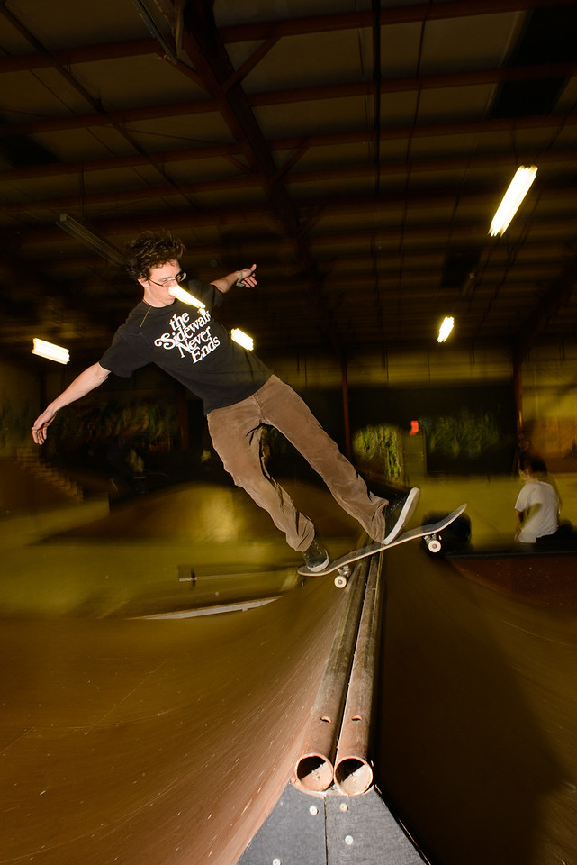 Jeremiah - Rock fakie on the spine - Revert Skatepark Feb 2013