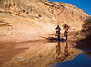 Cooling Off in the desert the Dual Sport Utah Way - Photo by Pat Bonish