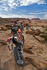 Our Steeds for the Day Spent in the Moab Desert - Riding with DualSport Utah - Photo by Pat Bonish