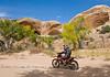 Colleen riding through the Sugar Sand - Dual Sport Utah - Photo by Pat Bonish
