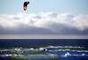 Backlit Swells - Kite Boarding at Jamala Beach California - Photo by Pat Bonish