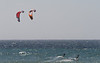 Dualing Kite Boarders - Jamala Beach California - Photo by Pat Bonish