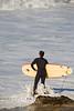Timing the Entrance - Surfing at Jamala Beach California - Photo by Pat Bonish