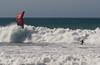 Trying to beat the Crush - Jamala Beach Claifornia - Photo by Pat Bonish