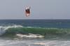 Riding the Tube on a Kite Board at Jamala Beach California - Photo by Pat Bonish