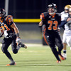 "Erie High School's Christian Mickey runs back a kick off for big yards during a football game on Friday, Oct. 5, against Frederick High School at Erie High School. For more photos of the game go to  <a href=""http://www.dailycamera.com"">http://www.dailycamera.com</a><br /> Jeremy Papasso/ Camera"