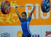 Republica Dominicana's Yudelkis Contreras competes in the Women's 53 Kg weightlifting competition at the Pan American Games in Rio de Janeiro, Brazil, July 15, 2007. Contreras won gold medal and beat south-american record.  (Australfoto/Renzo Gostoli)