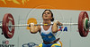 Nicaragua's Silvia Artola competes in the Women's 53 Kg weightlifting competition at the Pan American Games in Rio de Janeiro, Brazil, July 15, 2007.  (Australfoto/Renzo Gostoli)